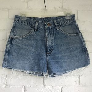 High waisted cutoff jean shorts ~27in waist